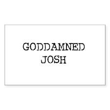 GODDAMNED JOSH Rectangle Decal