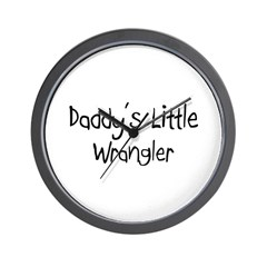 Daddy's Little Wrangler Wall Clock