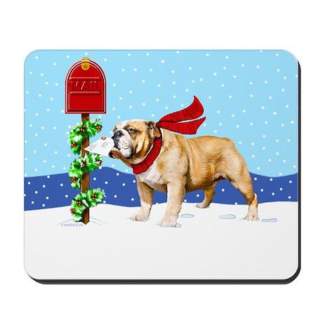 Christmas Bulldog Mail Mousepad