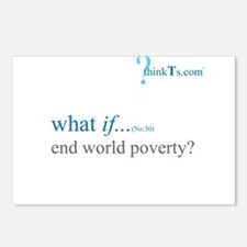 we could end world poverty? Postcards (Package of