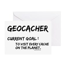 Geocacher Goals Greeting Card