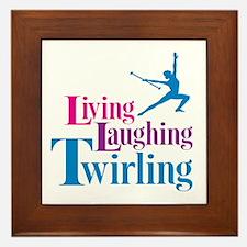 Living Laughing Twirling Framed Tile