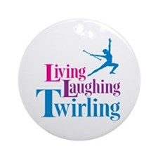 Living Laughing Twirling Ornament (Round)