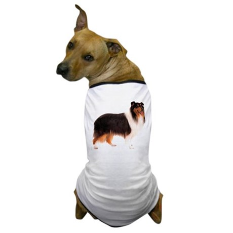 Black Rough Collie Dog T-Shirt