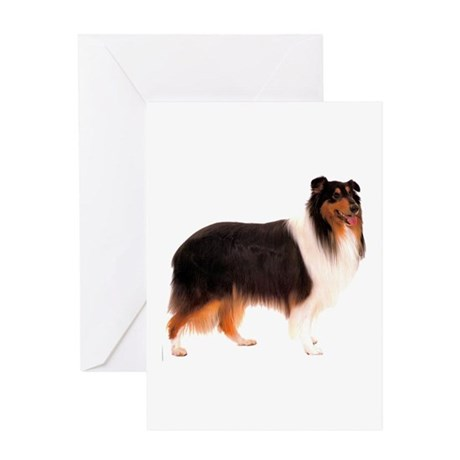 Black Rough Collie Greeting Card