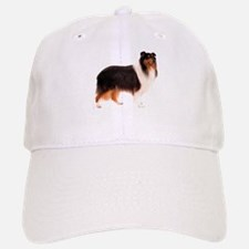 Black Rough Collie Baseball Baseball Cap