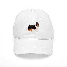Black Rough Collie Baseball Cap