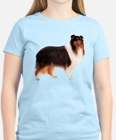 Black Rough Collie T-Shirt