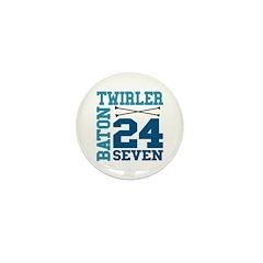 Baton Twirler 24/7 Mini Button (10 pack)