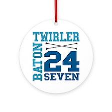 Baton Twirler 24/7 Ornament (Round)