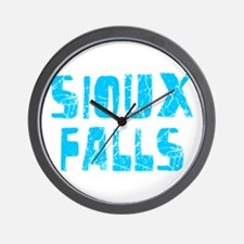 Sioux Falls Faded (Blue) Wall Clock
