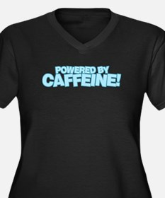Powered by caffeine blue Women's Plus Size V-Neck