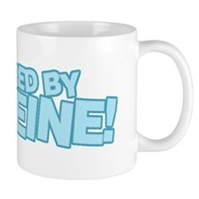 Powered by caffeine blue Mug
