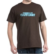 Powered by caffeine blue T-Shirt