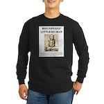 Little Big Man Wanted Long Sleeve Dark T-Shirt