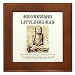 Little Big Man Wanted Framed Tile