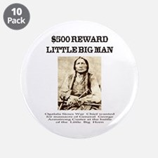 """Little Big Man Wanted 3.5"""" Button (10 pack)"""