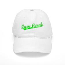 Retro Baseball Cape Coral (Green) Baseball Cap