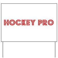 Retro Hockey Pro (Red) Yard Sign