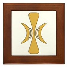 Golden Hand of Eris Framed Tile