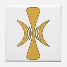 Golden Hand of Eris Tile Coaster