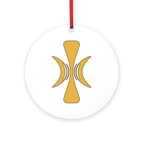 Golden Hand of Eris Ornament (Round)