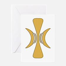 Golden Hand of Eris Greeting Card