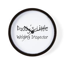 Daddy's Little Welding Inspector Wall Clock