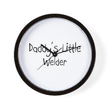 Daddy's Little Welder Wall Clock