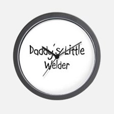 Daddy's Little Welder Wall Clock
