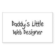 Daddy's Little Web Designer Rectangle Decal