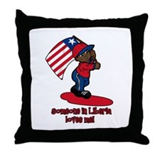 Someone in Liberia loves me! Throw Pillow