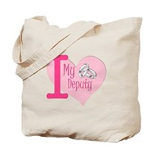 I love my deputy - pink hear Tote Bag