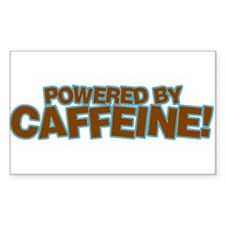 Powered By Caffeine brown Rectangle Decal