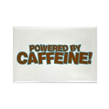 Powered By Caffeine brown Rectangle Magnet