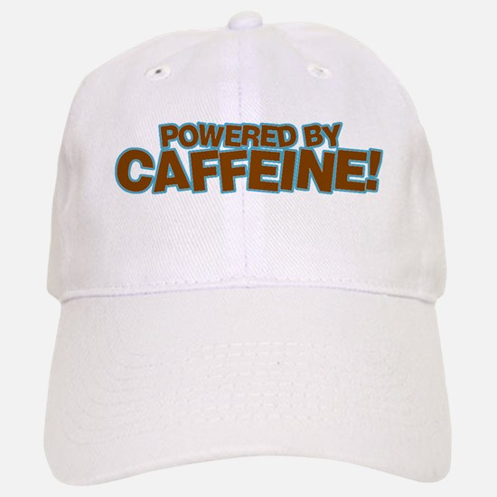 Powered By Caffeine brown Baseball Baseball Cap