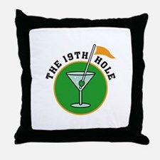 The 19th Hole Throw Pillow