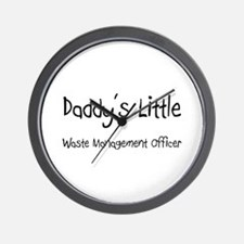 Daddy's Little Waste Management Officer Wall Clock