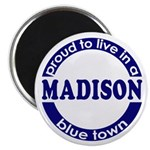 Madison: Proud Blue Town Magnet