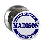 Madison: Blue Town Pinback Button
