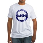 Madison: Blue Town Fitted T-Shirt