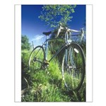 Green Bicycle Small Poster