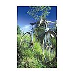 Green Bicycle Mini Poster Print