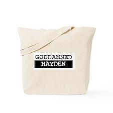 GODDAMNED HAYDEN Tote Bag