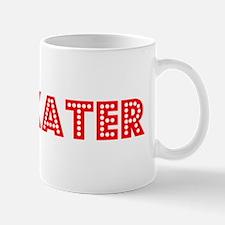 Retro Ice Skater (Red) Mug