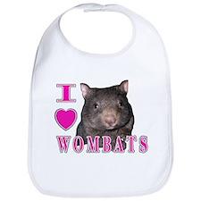 I Love ( Heart ) Wombats Bib