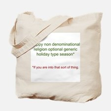 Funny Generic Holiday Tote Bag