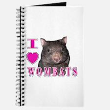 I Love ( Heart ) Wombats Journal