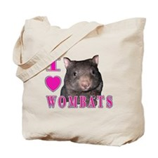 I Love ( Heart ) Wombats Tote Bag