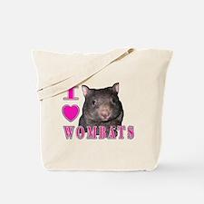 I Love ( Heart ) Wombats Tote Bag
